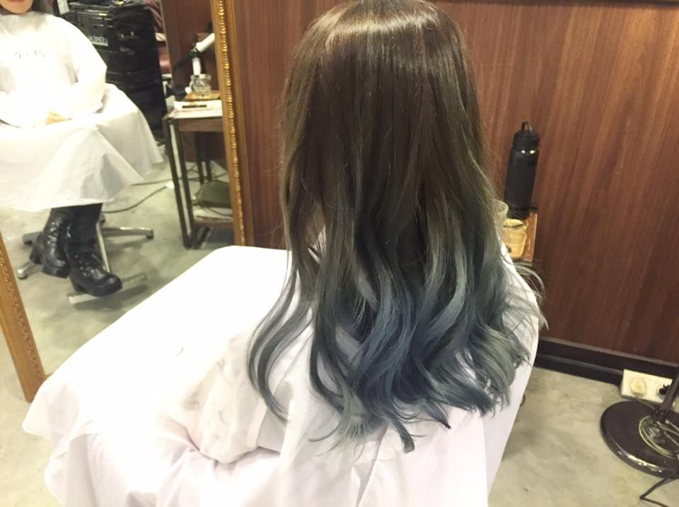 Ash Brown With Blue Grey Hair Hair Beauty Ash Blue Hair
