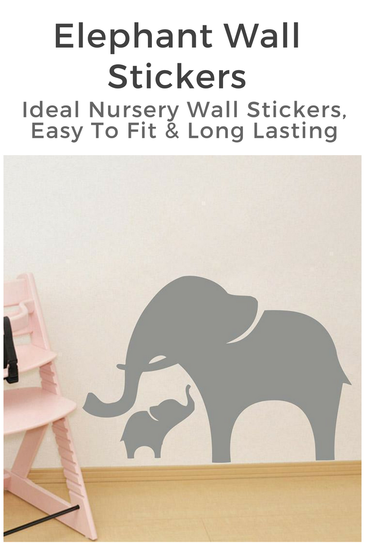 Elephant wall decal u elephant wall art mother u baby baby