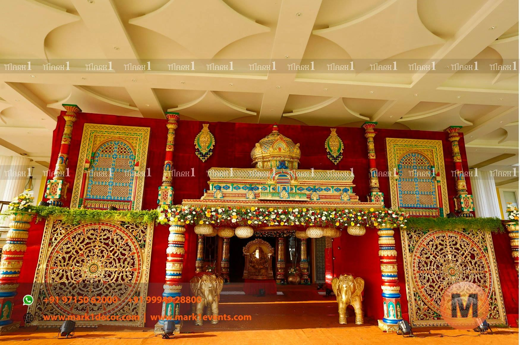Rajasthani wedding stage decoration  Our tremendous team at Mark  Wedding Decors exhibited their talent