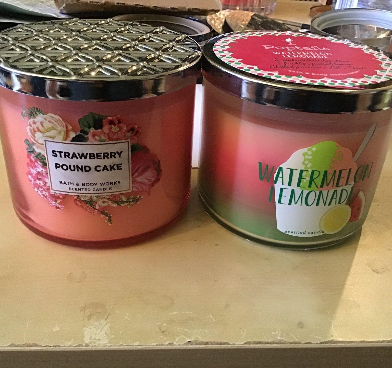 Brand new original strawberry poundcake with dark jar