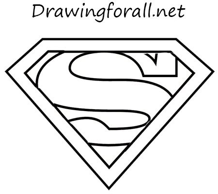How To Draw The Superman Sign Superman Logo Superhero Logo Templates Superman