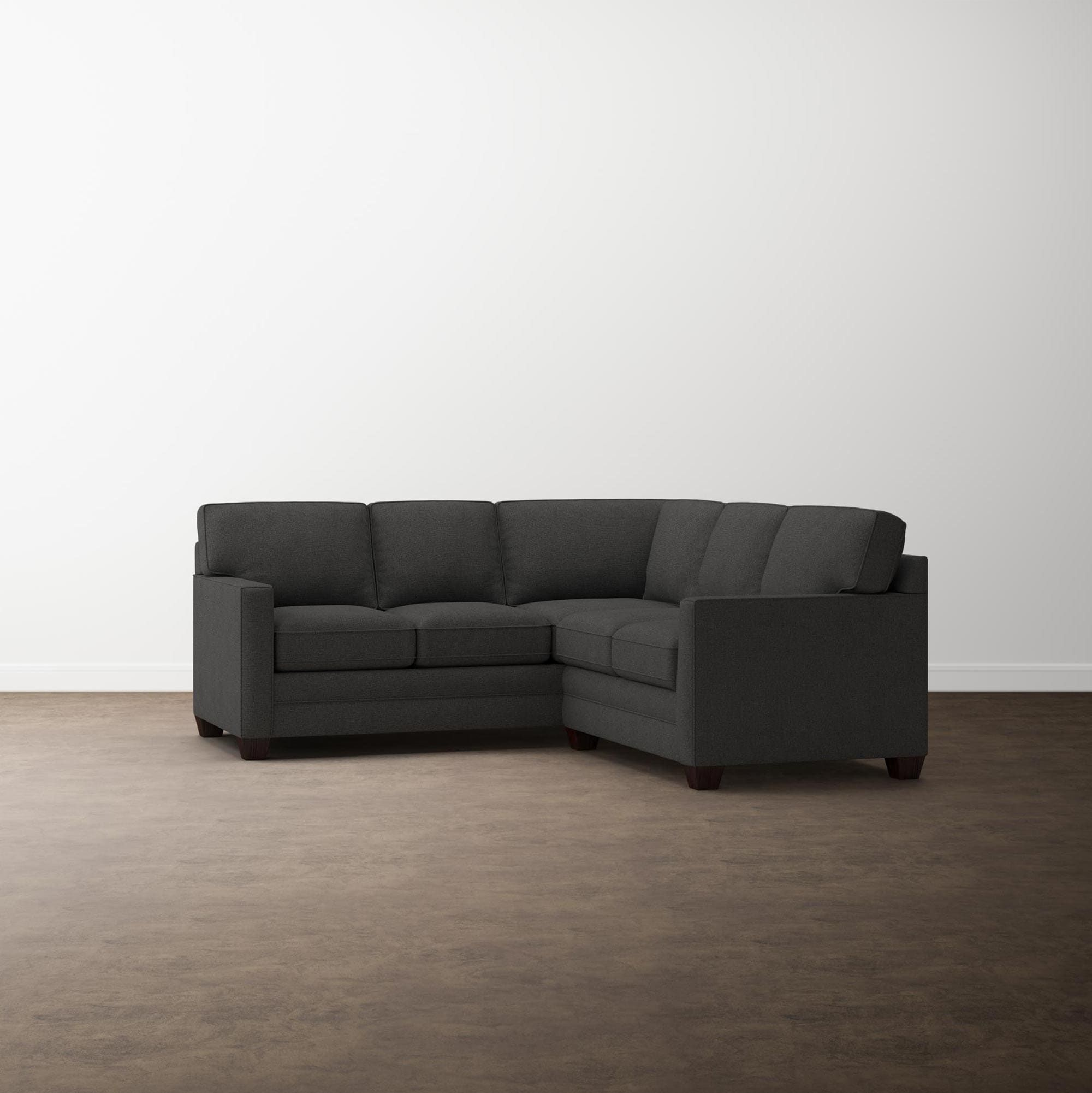 Aiden Small L Shaped Sectional Sofa Track Arm Fabric Sofas For Small Spaces Couch Set L Shaped Couch