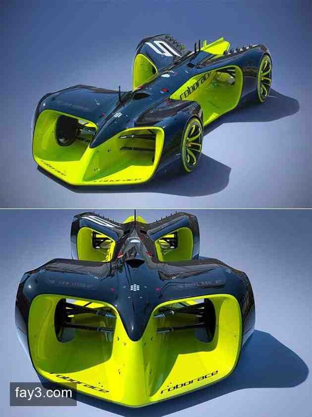 سيارة Roborace أول سيارة سباق فورميولا دون سائق سيارات صورة ٣ Toy Car Car Racing