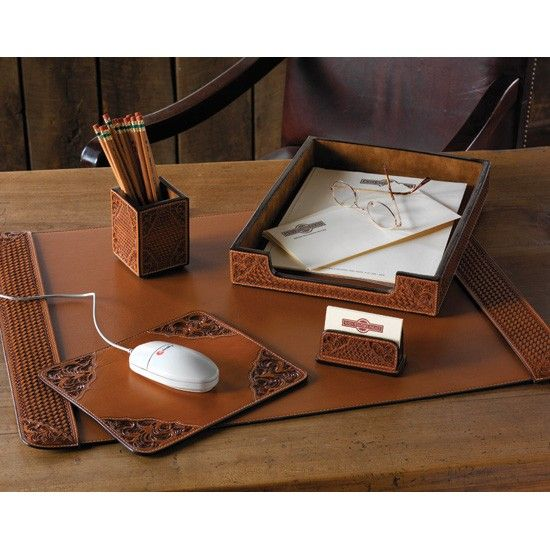 Western Classic Desk Accessories Leather Desk Accessories Desk
