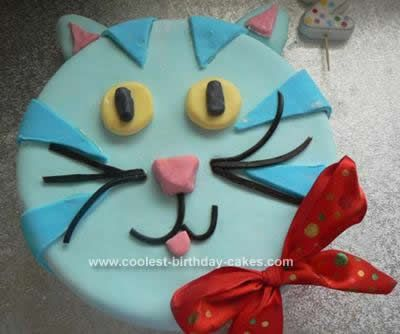 Cat Cakes 13 haley Pinterest Blue cats Birthday cakes and