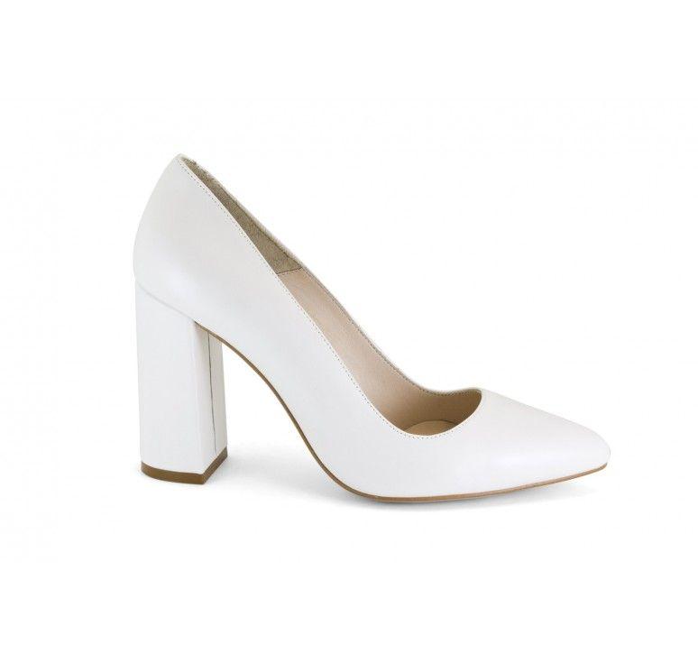 17537-868t zapato de novia cerrado con tacon ancho - Ángel alarcón