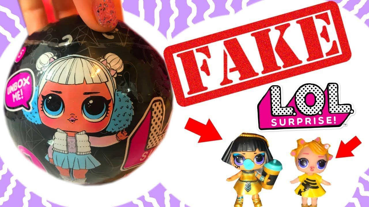 FAKE LOL DOLLS OPENING NEW BLACK MYSTERY LQL SURPRISE BALL