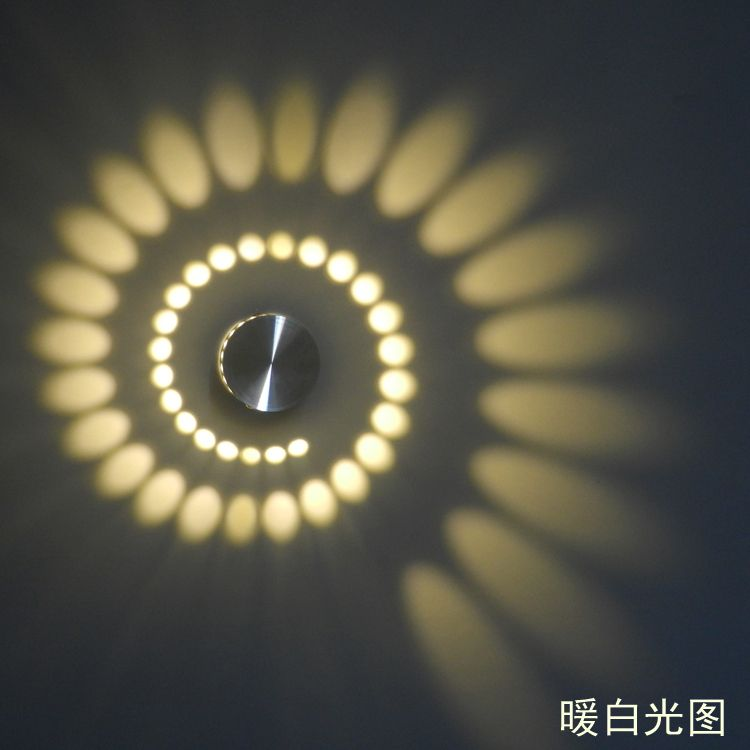 New LED Modern Light LED Wall Lamp 3W Art Light For Background Warm White  Color 85