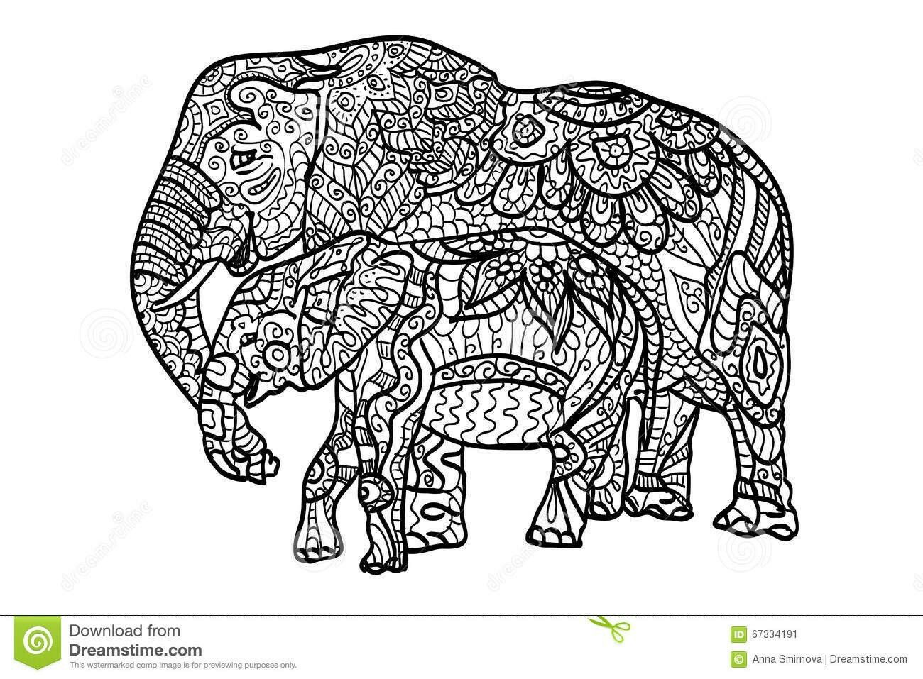 Pin by Elisabeth Quisenberry on Coloring: Elephants | Pinterest