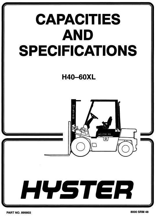 Hyster Truck Type B177, C177: H2.00XL (H40XL), H2.50XL (H50XL), H3 on