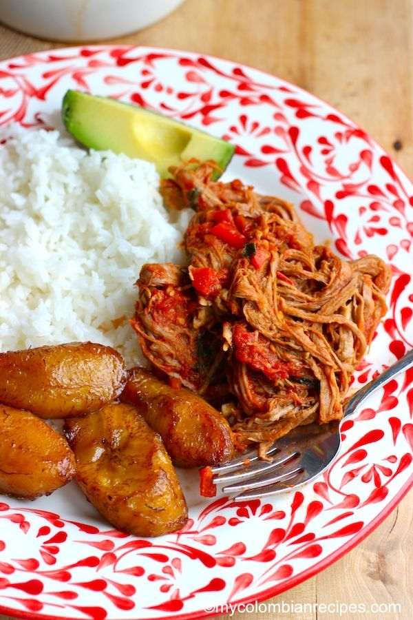 Carne Desmechada O Ropa Vieja Shredded Beef Meat Dinners Mexican Food Recipes Recipes