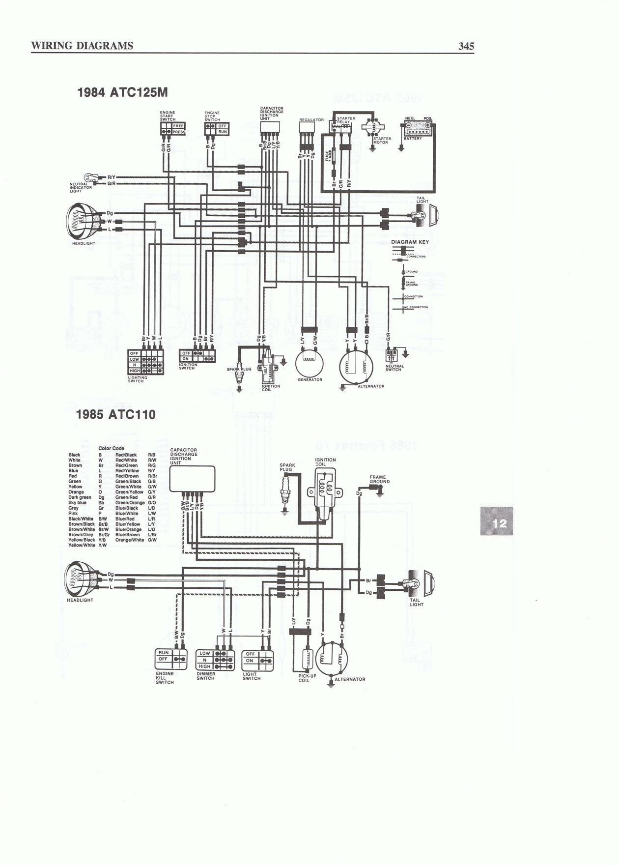 125 Pit Bike Wiring Diagram Colored