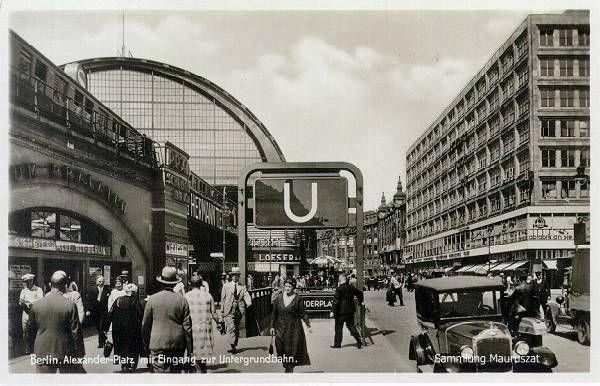 U Bahnhof Alexanderplatz Bahnhofe Der Strecken D Und E Sowie Zwischengeschosse Um 1932 Das Berliner U Bahn Archiv Historische Fotos Berlin Berlin Geschichte