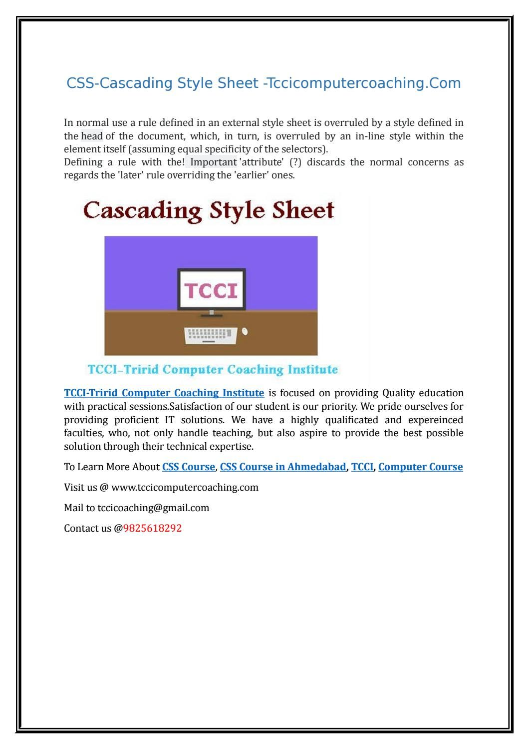 Css cascading style sheet com