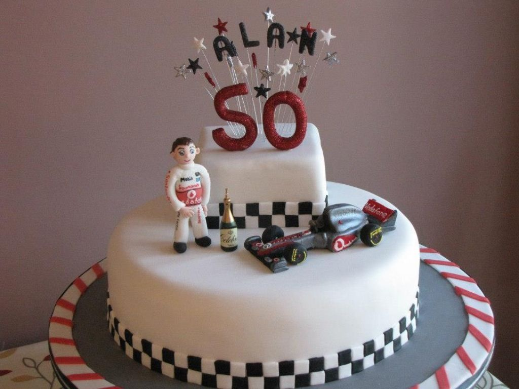 Birthday Cake Images In : Racing themed cake Birthday cakes Pinterest