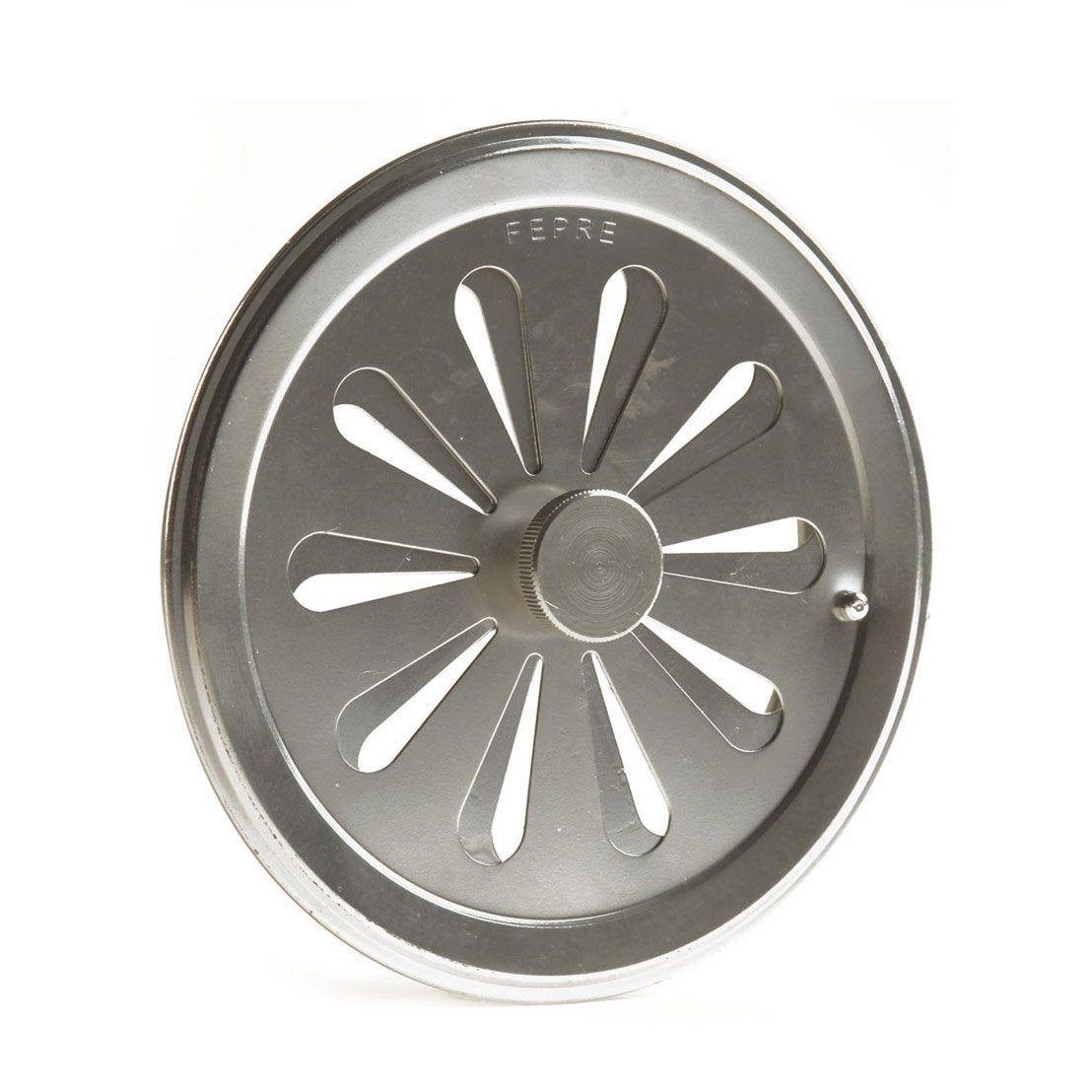 Grille D Aeration Aluminium Chrome Diam 12 Cm Ferreteria Y Prensas Aeration Grille Et Produits