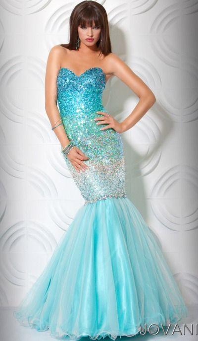 Jovani Long Ombre Jewel Designer Mermaid Prom Dress 71447 ...