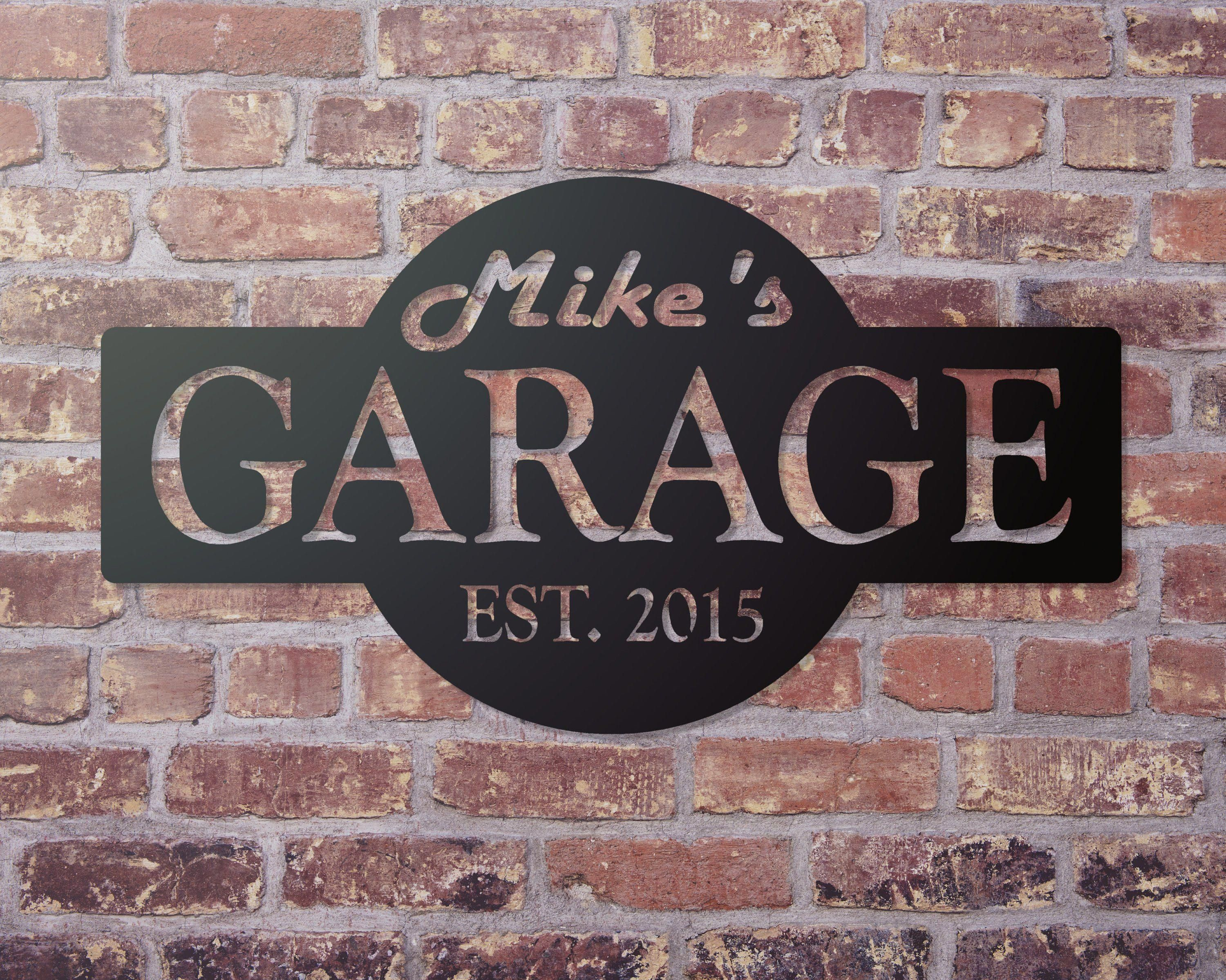 Garage Personalized Sign, Garage Decor, Custom Garage Sign, Man Cave Decor, Fathers Day Gift, Christmas gift for Him #mancavegarage