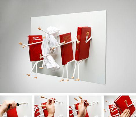 Cute Bookshelf samulnoli's movement bookcase is a cute décor addition, featuring