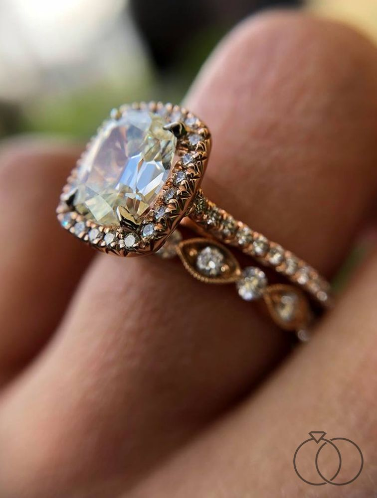 Your Engagement Is A Magical Moment So Is This Rose Gold Diamond Engagement Ring From H Daussi Engagement Rings Engagement Rings Henri Daussi Engagement Rings