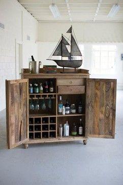 Reclaimed Wood Bar Cabinet Industrial Kitchen Islands And Kitchen Carts Oilfield Slang Wood Bar Cabinet Diy Home Bar