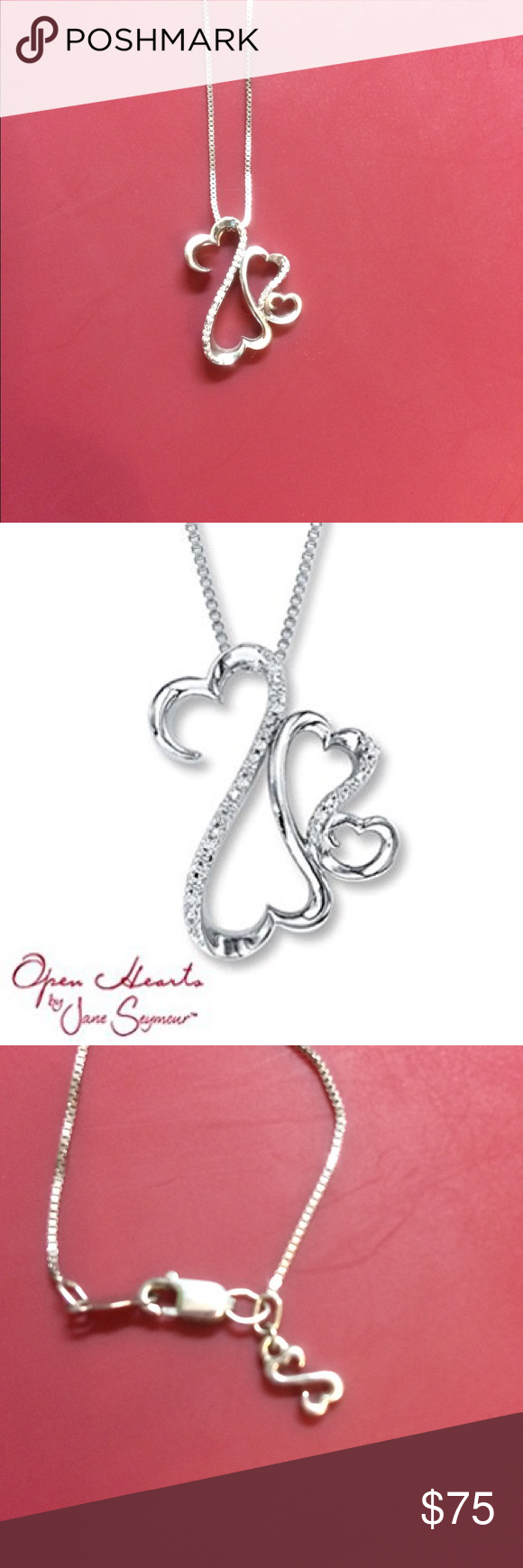 Schön ... For A VALENTINES DAY Gift! Open Hearts Necklace. 1/20 Ct Tw Diamonds  Sterling Silver. Perfect Gift For The Special Someone In Your Life. Kay  Jewelers ...