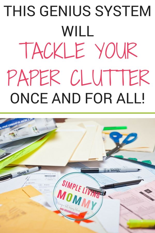 Organizing Tips for Paper Clutter | Paper clutter, Declutter and Clutter