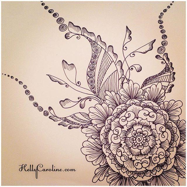 Henna Back Tattoo Drawing: A New Mandala Henna Design From My Sketchbook Last Night