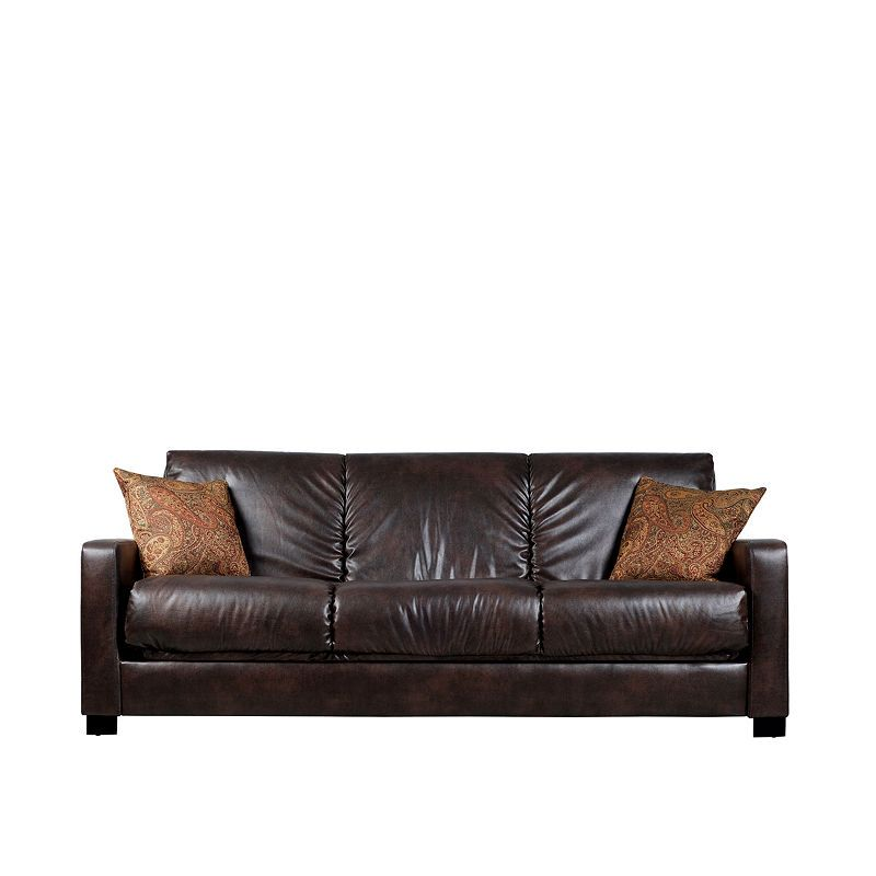 Sally Track Arm Faux Leather Convert A Couch Furnitur