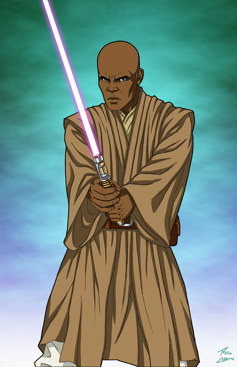 Mace Windu Commission By Phil Cho On Deviantart Star Wars Characters Pictures Star Wars Pictures Star Wars Images