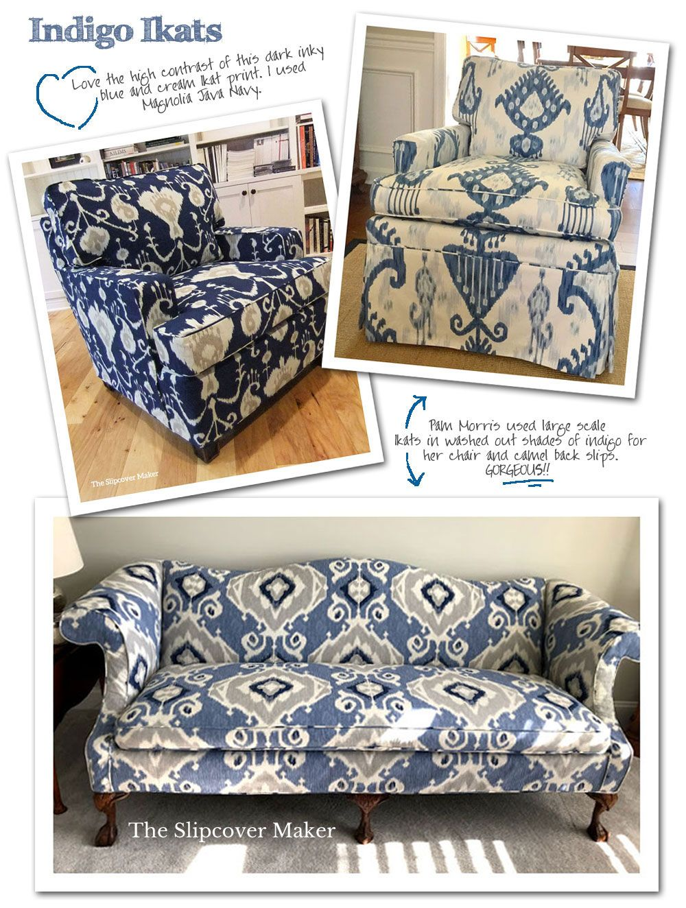 Pin On Indigo Slipcovers