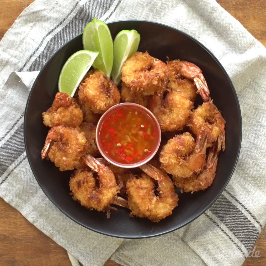 Fried coconut shrimp receta recetas comida y mariscos - Aperitivos de mariscos ...