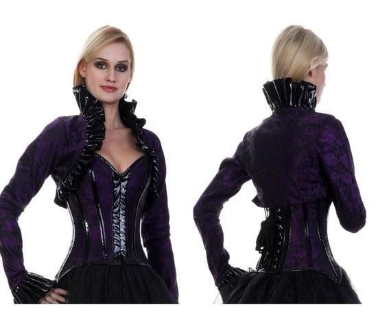 Corset and skirt with matching bolero to cover up with.