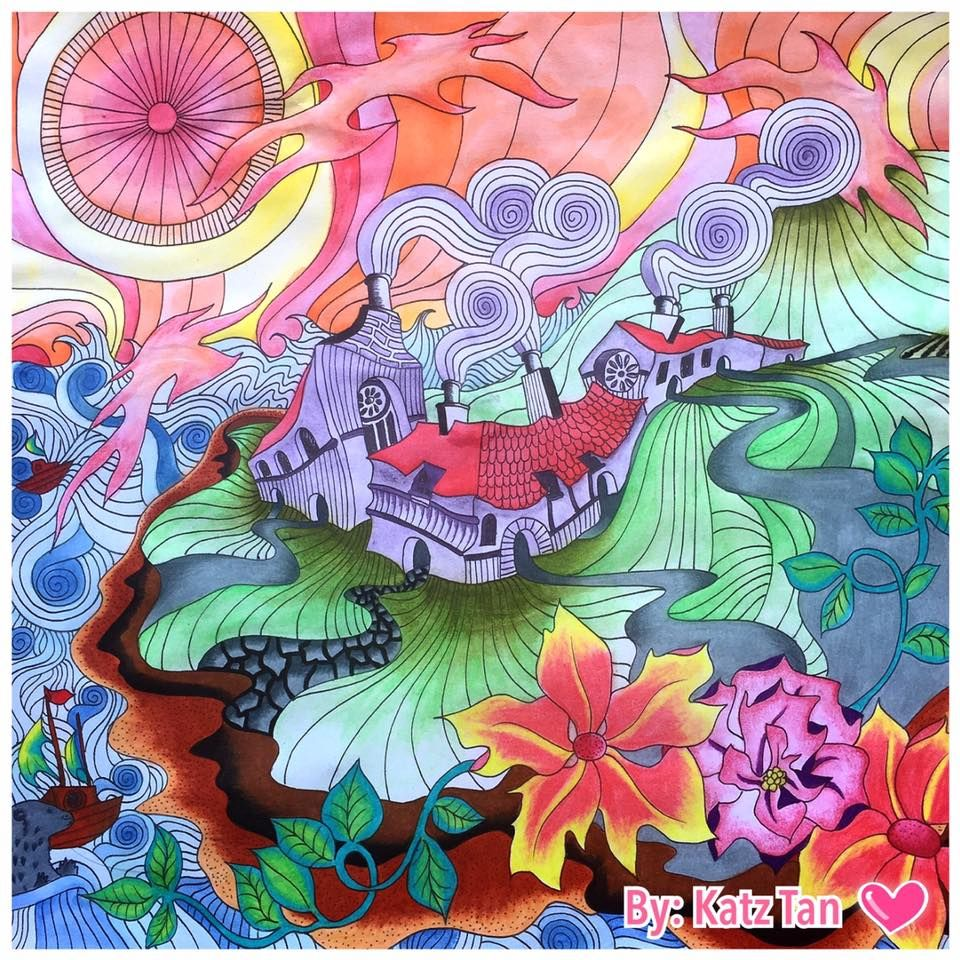 Th the magical city colouring in book - Colored By Katz Tan Book Magical City Medium