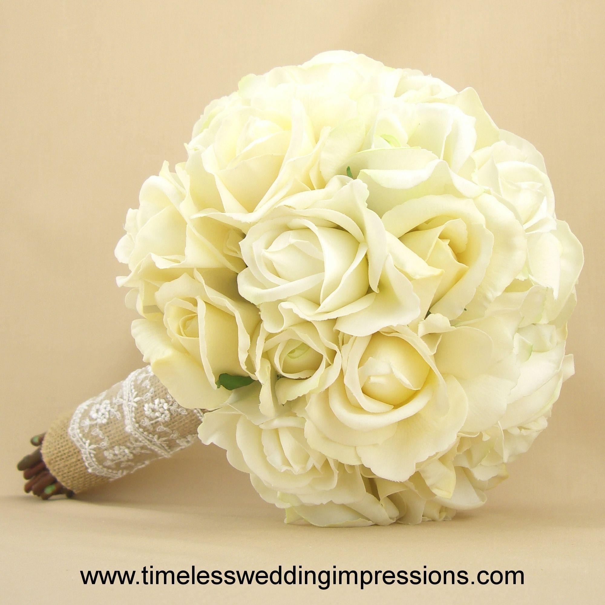 Google image result for httptimelessweddingimpressions skinfrontenddefaultdefaultimagesrustic bridal bouquet burlap lace roses rosebuds white cream ivory real touch silk wedding flowersg mightylinksfo