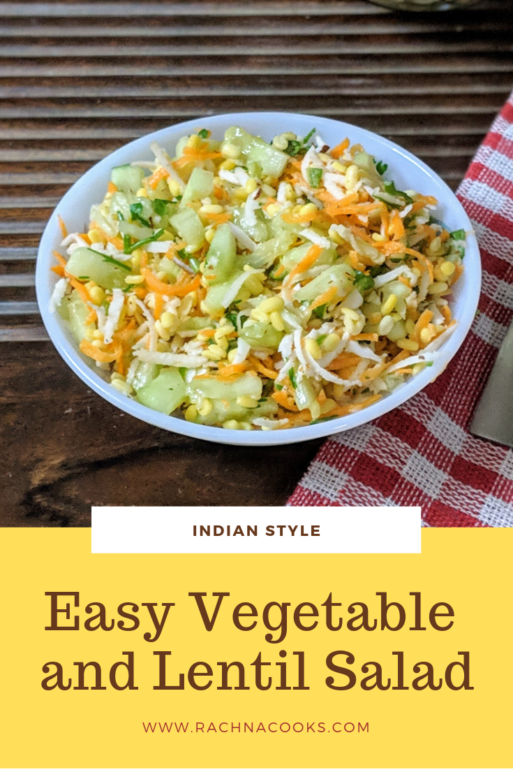 Kosambari Recipe Moong Dal Kosambari Lentil And Fresh Veggie Salad