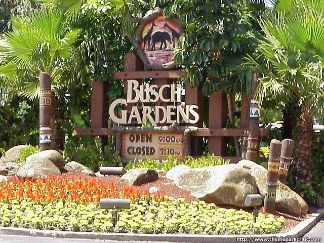 bush gardens Busch Gardens Sign Mojos Pinterest Tampa