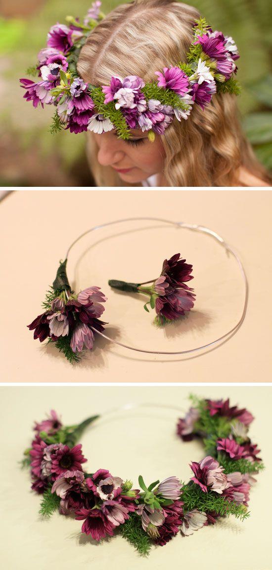 DIY Fresh Flower Crown | DIY Beach Wedding Ideas on a Budget | DIY Beach Wedding Flowers