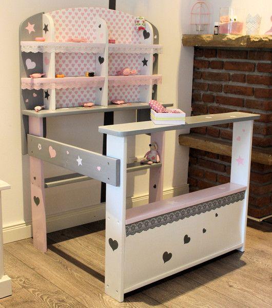 kaufladen rosa grau weiss shabby von domis pusteblume auf. Black Bedroom Furniture Sets. Home Design Ideas
