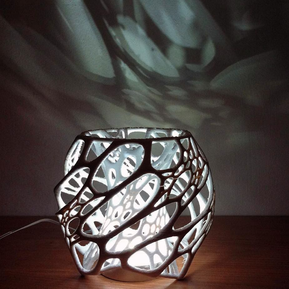 3d Printed Lamp 3dprinting Design Prints 3d Printing Art