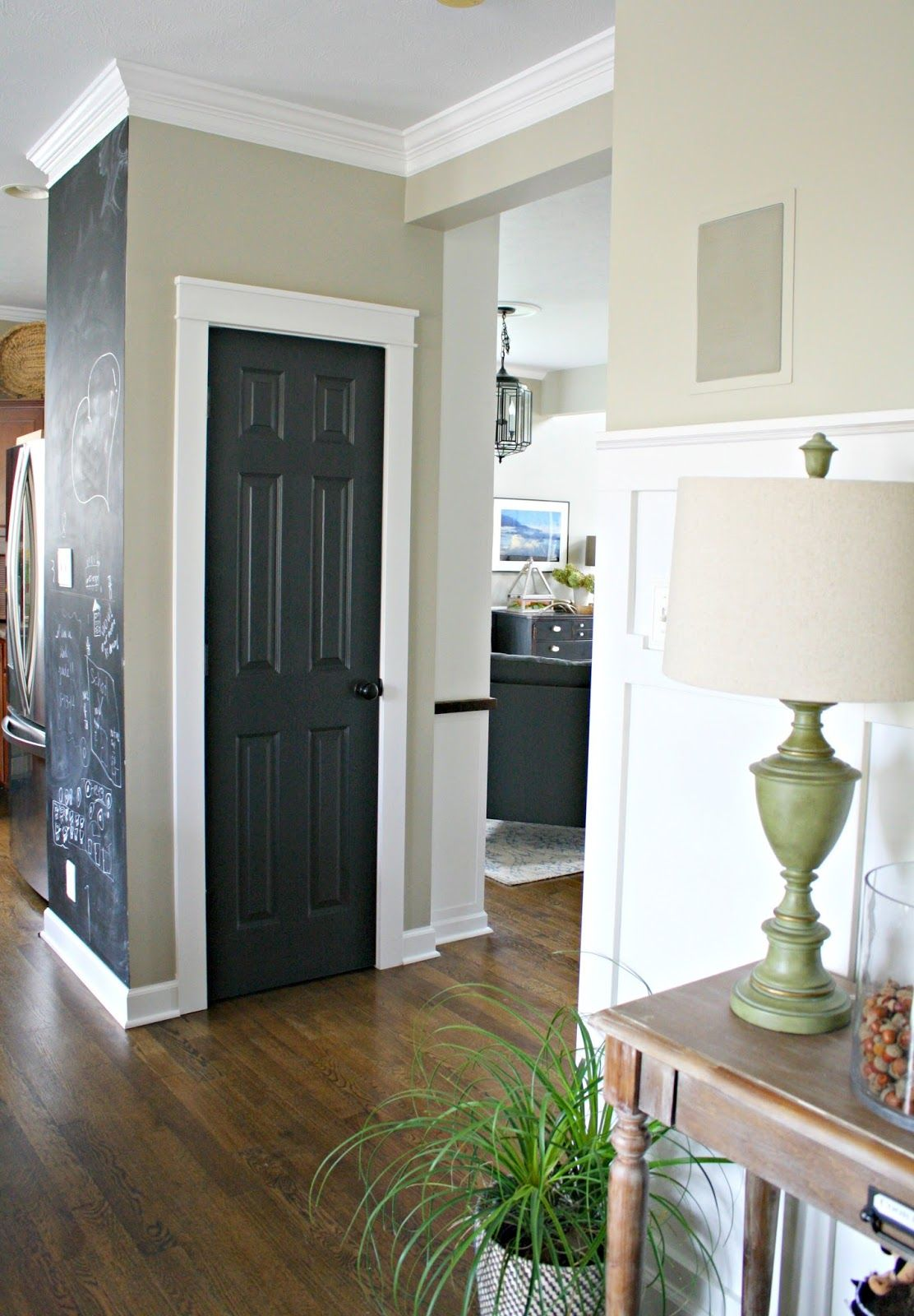 Black Interior Doors with White Trim - what a great look! Thrifty ...