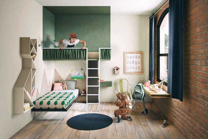 Moderne zwevende kinderkamer meubels van lago meubels