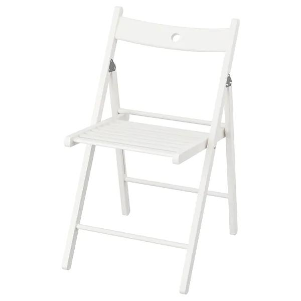 Sedie Pieghevoli Legno Ikea.Terje Sedia Pieghevole Bianco Sedie Pieghevoli Ikea Sedie