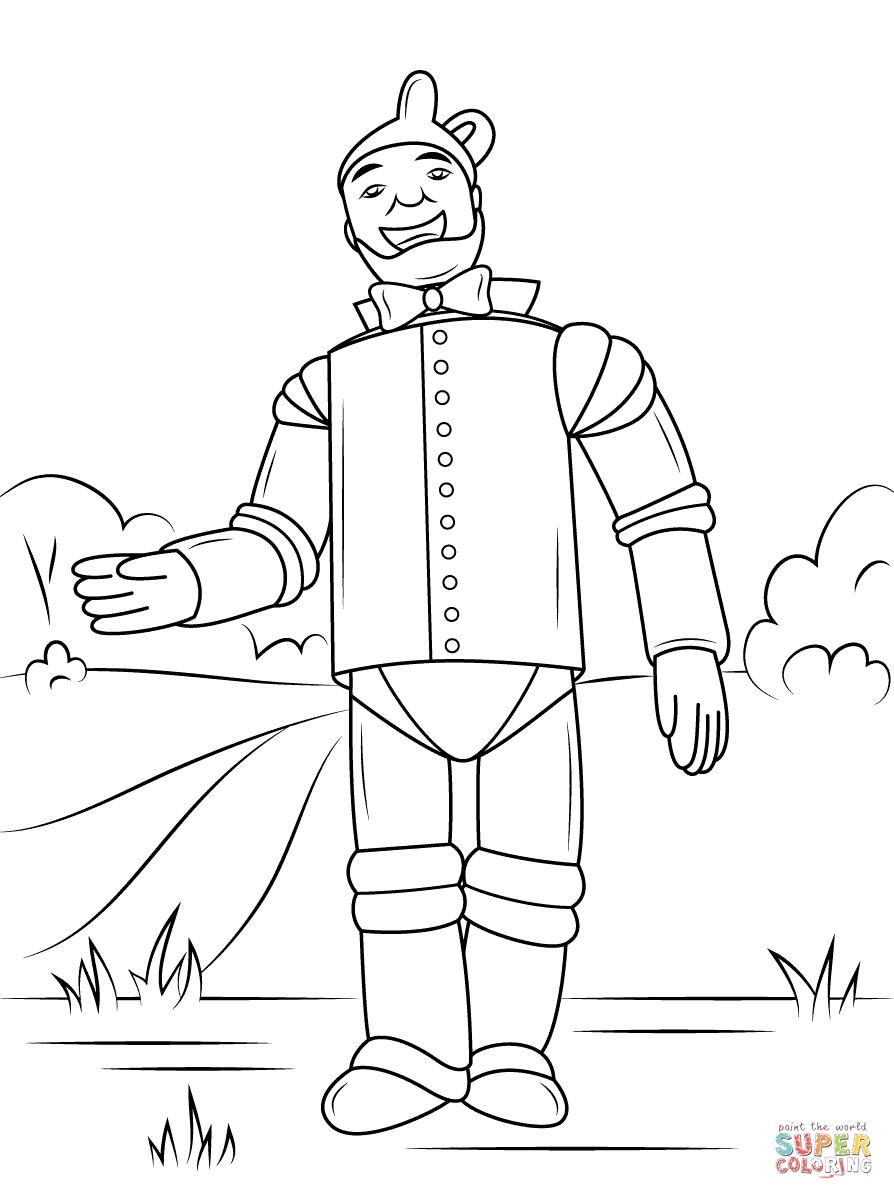 Wizard Of Oz Tin Man Coloring Page Free Printable