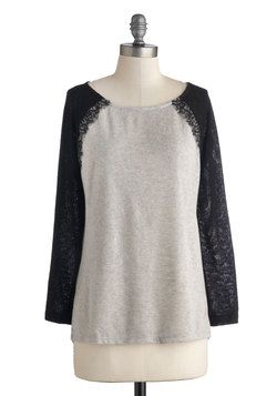 Relaxed Luxury Sweater, #ModCloth I'm a little addicted to lace.