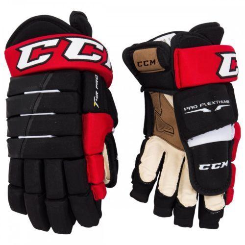c58317cc9ba Gloves 20853  Ccm Black Red And White Tacks 4 Roll Pro Junior Hockey Gloves  12