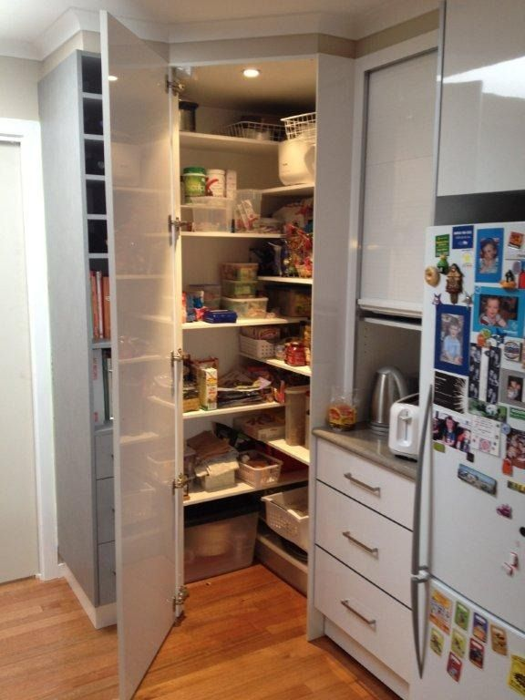 Kitchen reno s before after corner pantry for Kitchen pantry plans