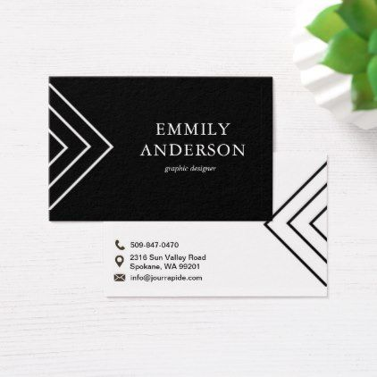 Elegant Black White Stripes Business Card - business invitations templates