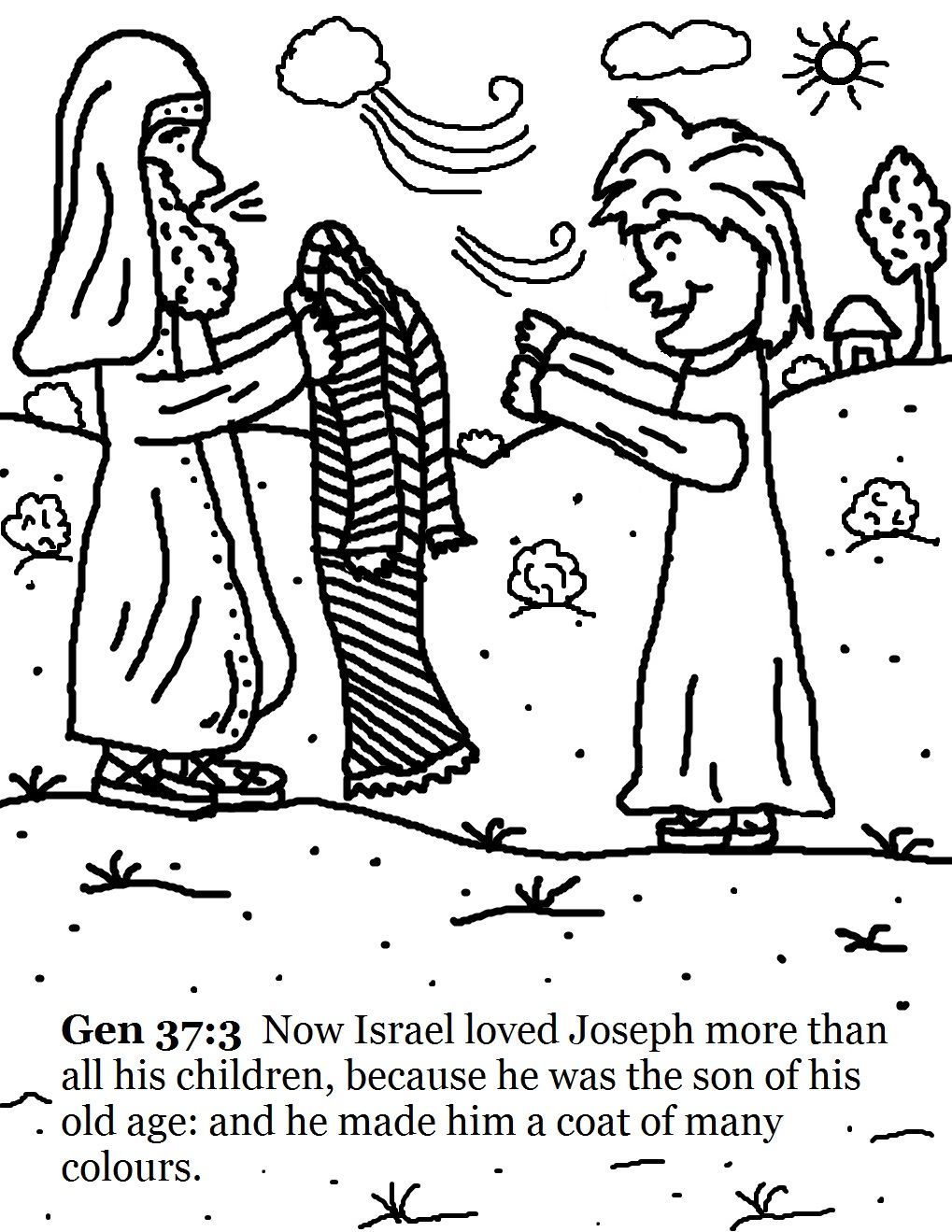 Terrific Joseph And His Coat Of Many Colors Coloring Page Free 83