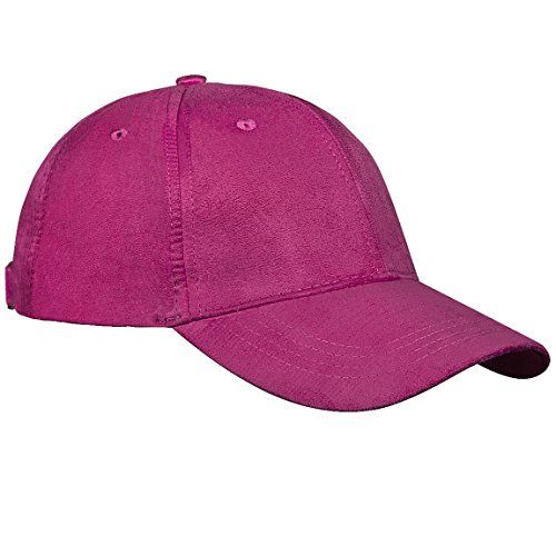 26b4ae589fd IdealCover Blank Adjustable Classic Suede Cotton Solid Color plain Baseball  Cap Unisex Average adult Adjustable Suede Cotton sport outdoor (Pink)